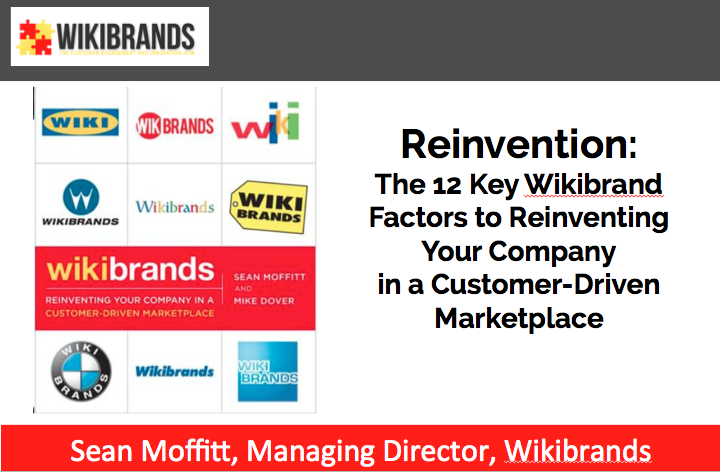 Brand Reinvention – The 12 Key Wikibrand Factors for Reinventing Your Company in a Customer-Driven Marketpalce
