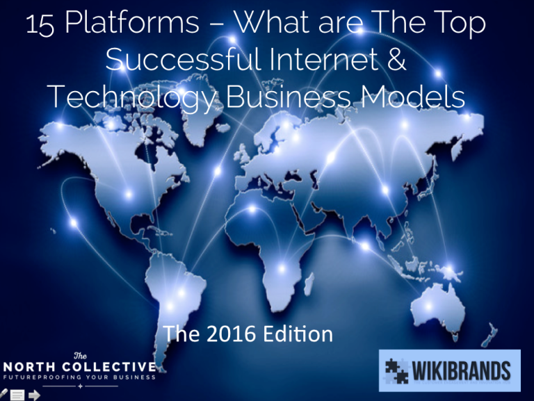 The 15 Platforms – Top Internet and Technology Platform Business Models