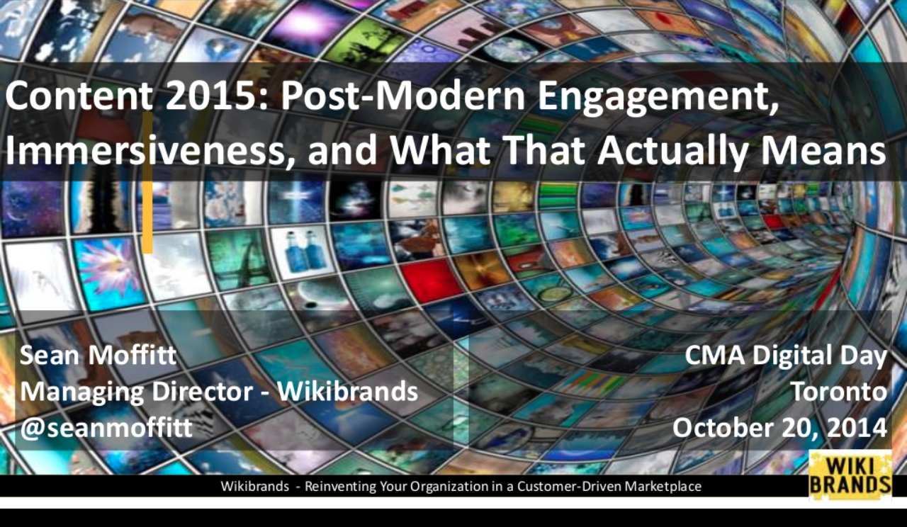 The Future of Content – Post-Modern Engagement, Immersiveness and What That Actually Means
