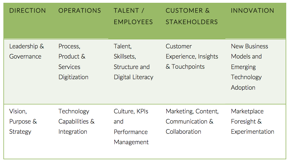 The 10+1 Elements to Digital Maturity