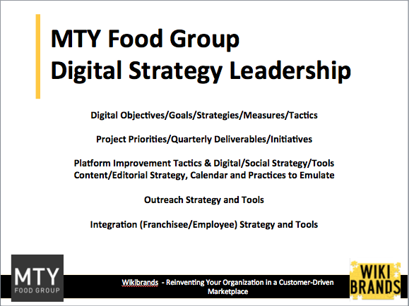 MTY Group Digital Leadership – From Strategy to Execution